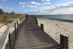 Holzpromenade-Strand-Pelzerhaken