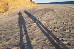 Strand-Pelzerhaken-Schatten-Selfie-Zwei