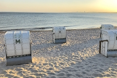 Strandkörbe-Sonnenuntergang