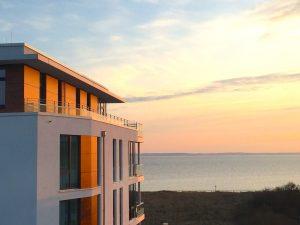Südkap Pelzerhaken Ferienwohnung mit Meerblick bei Sonnenuntergang