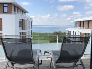 Ostsee Ferienwohnung mit Meerblick und Dachterrasse