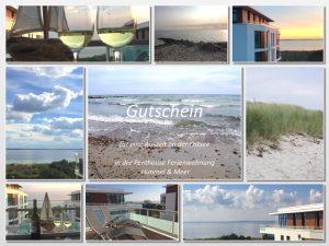 Gutschein Ostsee Ferienwohnung HImmel und Meer